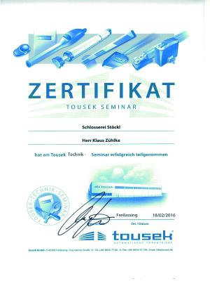 Zertifikat Zühlke